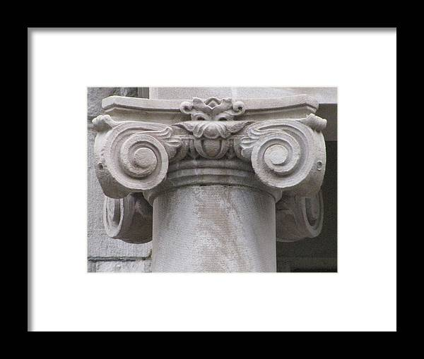 Architecture Embellishments Framed Print featuring the photograph Embellishment Series by Ginger Geftakys