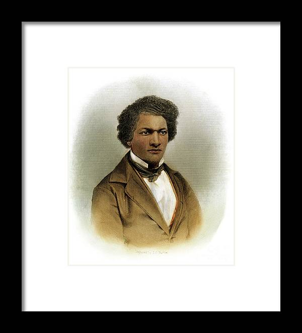 1854 Framed Print featuring the drawing Frederick Douglass by Granger
