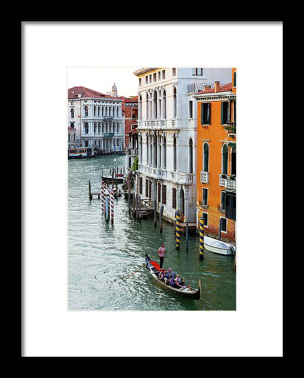 Venice Framed Print featuring the photograph Gondola, Canals Of Venice, Italy by Bruce Beck