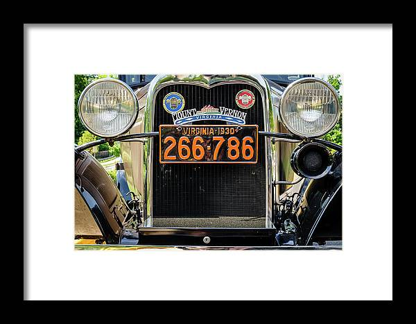 Vintage Car Framed Print featuring the photograph Model A Ford, Old Town Fairfax, Virginia by Mark Summerfield