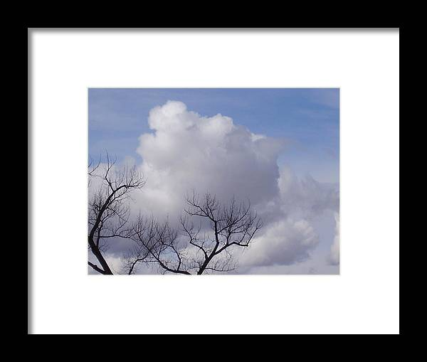 Clouds Framed Print featuring the photograph Montana Clouds by Yvette Pichette