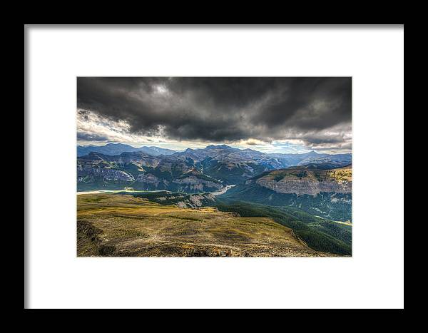 Alberta Framed Print featuring the photograph Mount Black Rock by Brandon Smith