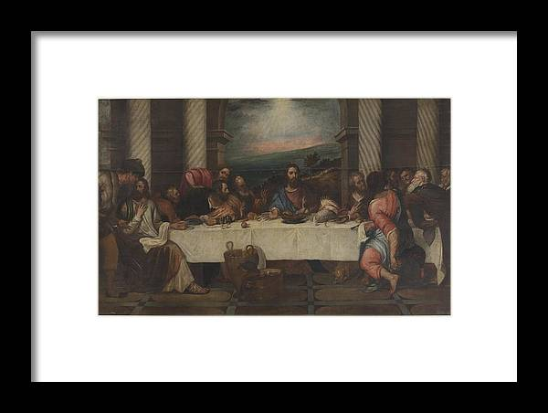 The Last Supper 2 Framed Print featuring the painting The Last Supper by MotionAge Designs