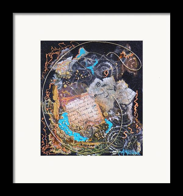 Abstract Framed Print featuring the painting 9 To 5 by Tara Milliken