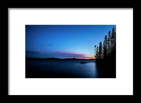 Framed Print featuring the photograph Waldo Lake by Angus Hooper Iii