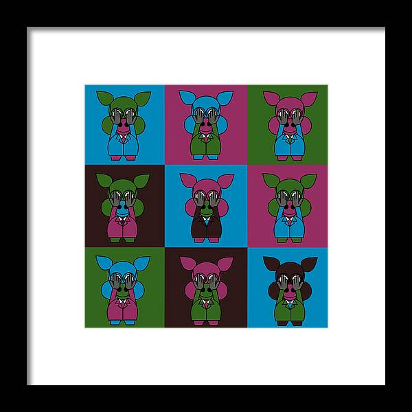 Carnival At The Zoo Framed Print featuring the digital art 9 Zoo-Veterinarians by Asbjorn Lonvig
