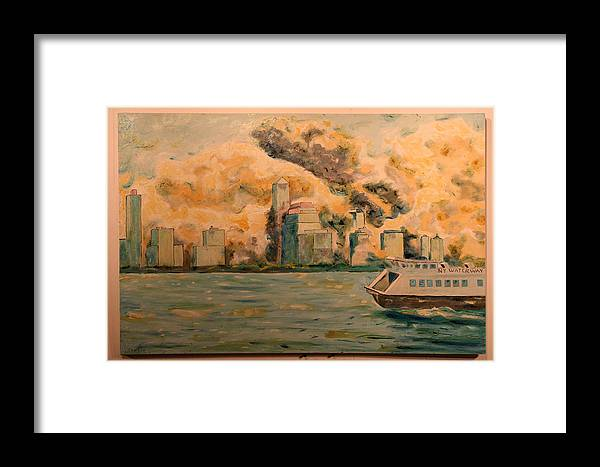 Framed Print featuring the painting 9112001 by Biagio Civale
