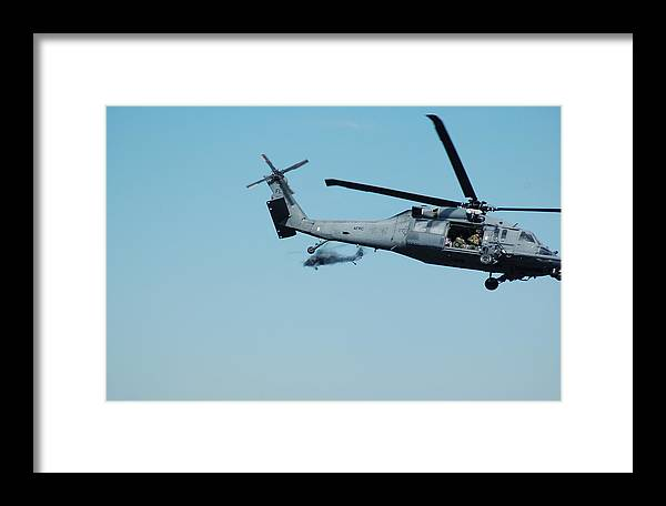 Helicopter Framed Print featuring the photograph 920th Rescue Squadron Orbit by Mark Weaver