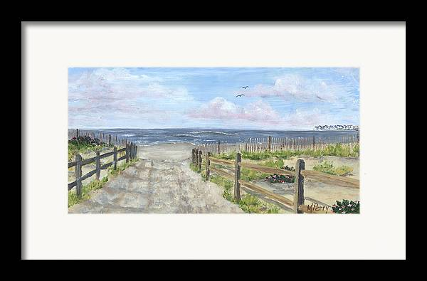 Sea Isle City Framed Print featuring the painting 92nd Street by Margie Perry