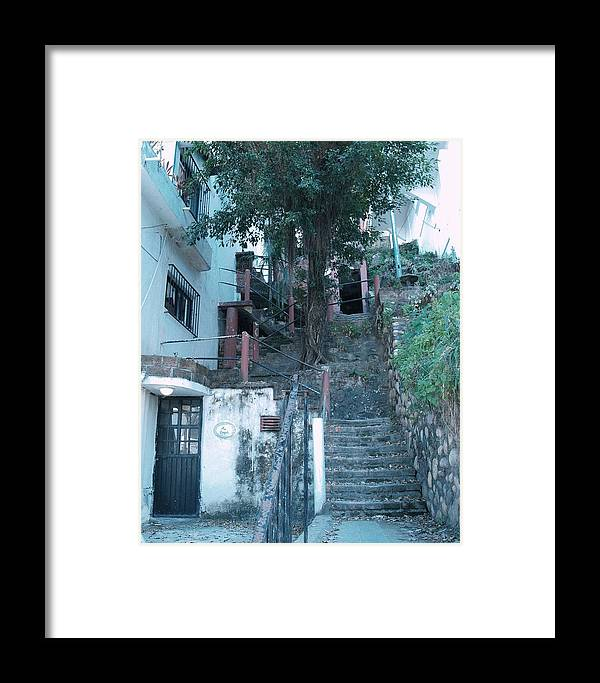 Architectural Framed Print featuring the photograph 99 Steps by James Johnstone