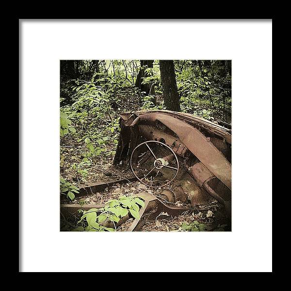 Urban Decay Collection By Serge Averbukh Framed Print featuring the photograph Abandoned 50s Classic.... by Serge Averbukh