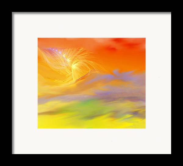 Fine Art Framed Print featuring the digital art A Band Of Angels Coming After Me by David Lane
