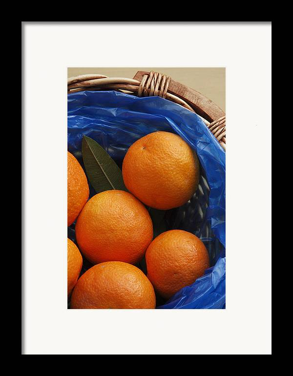 Crete Framed Print featuring the photograph A Basket Of Oranges by Steve Outram