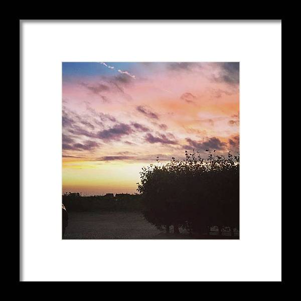 Norfolklife Framed Print featuring the photograph A Beautiful Morning Sky At 06:30 This by John Edwards