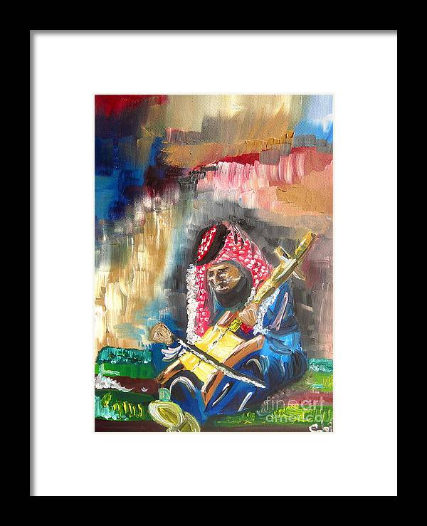 Bedouin Framed Print featuring the painting A Bedouin Life by Sabrina Phillips