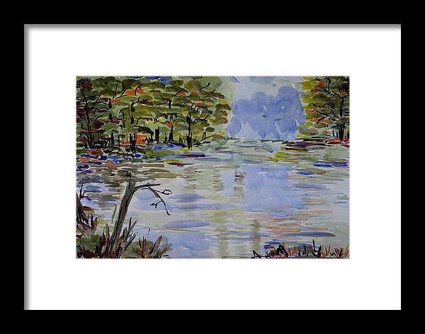 Water Framed Print featuring the painting A Bit Of Nature - Impressionistic by Liliana Andrei