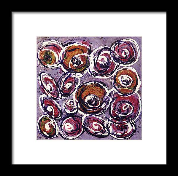 Abstract Framed Print featuring the painting A Bit Of Whimsey by K Batson Art