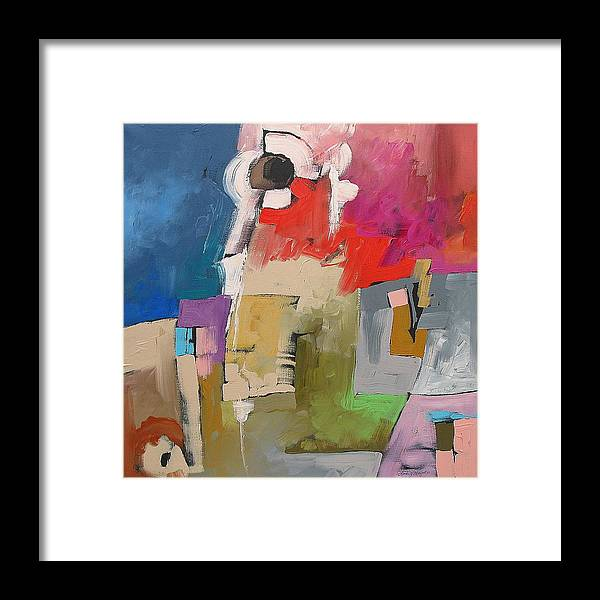 Original Framed Print featuring the painting A Bizarre Incident by Linda Monfort