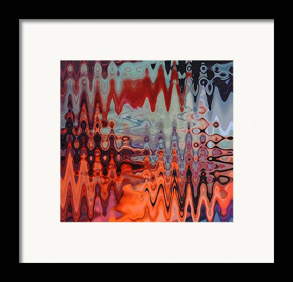 Abstract Framed Print featuring the painting A Blur Of Colors by Jennifer Godshalk