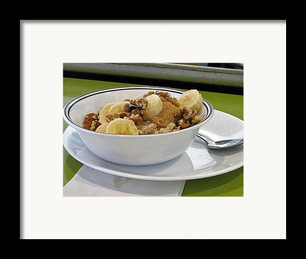 Still Life Framed Print featuring the photograph A Bowl Of Oats by Donna Thomas