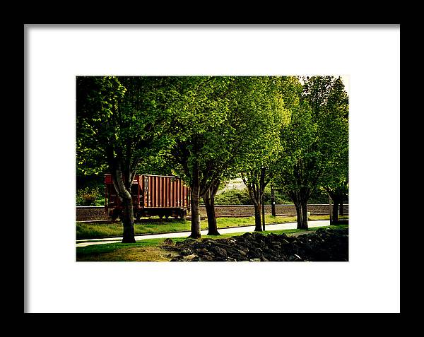 Boxcar Framed Print featuring the photograph A Boxcar Story by Kerry Langel