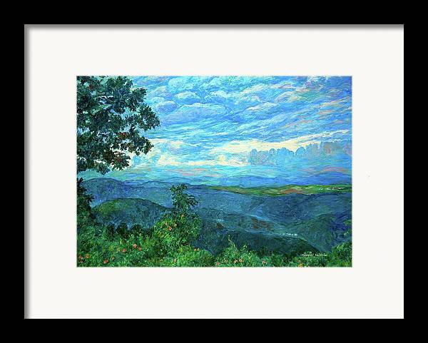 Mountains Framed Print featuring the painting A Break In The Clouds by Kendall Kessler