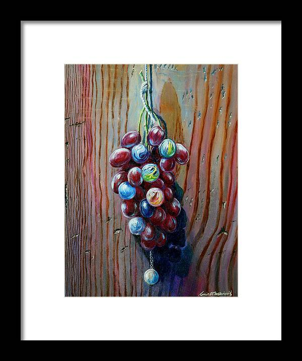 Still Life Framed Print featuring the painting A Bunch Of by Tomas OMaoldomhnaigh
