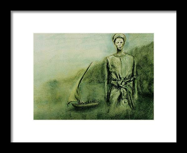Woman Framed Print featuring the drawing A Bunyakyusa Woman by Mushtaq Bhat