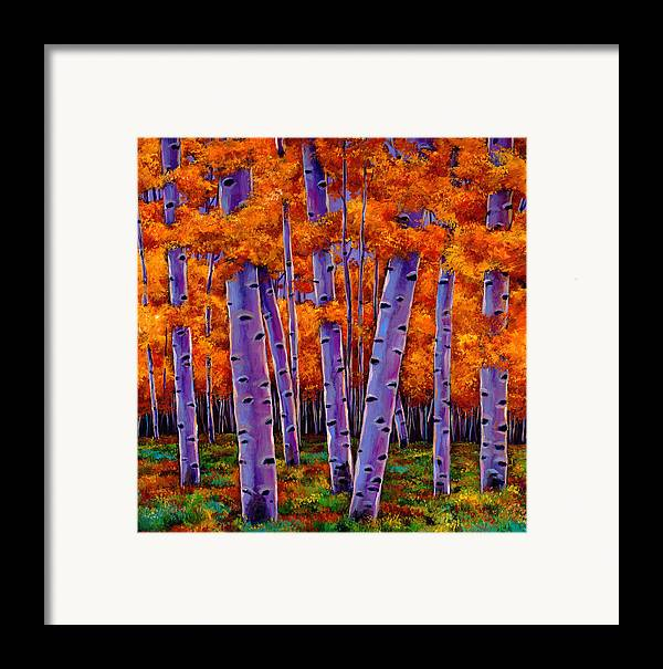 Aspen Trees Framed Print featuring the painting A Chance Encounter by Johnathan Harris