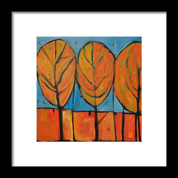 Fall Framed Print featuring the painting A Change Of Seasons by Tim Nyberg