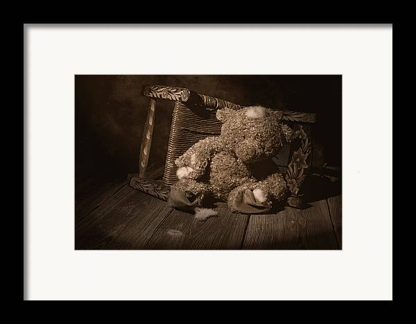 Teddy Bear Framed Print featuring the photograph A Child Once Loved Me by Tom Mc Nemar