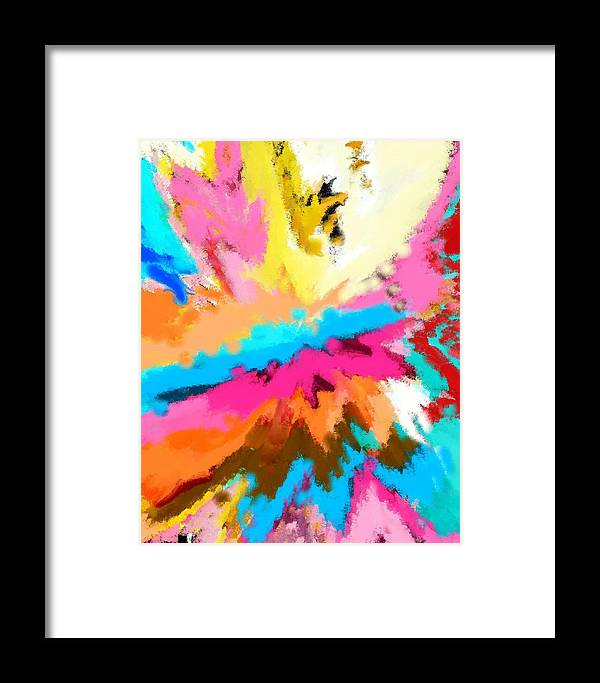 Abstract Framed Print featuring the digital art A Childs Dream by Florene Welebny