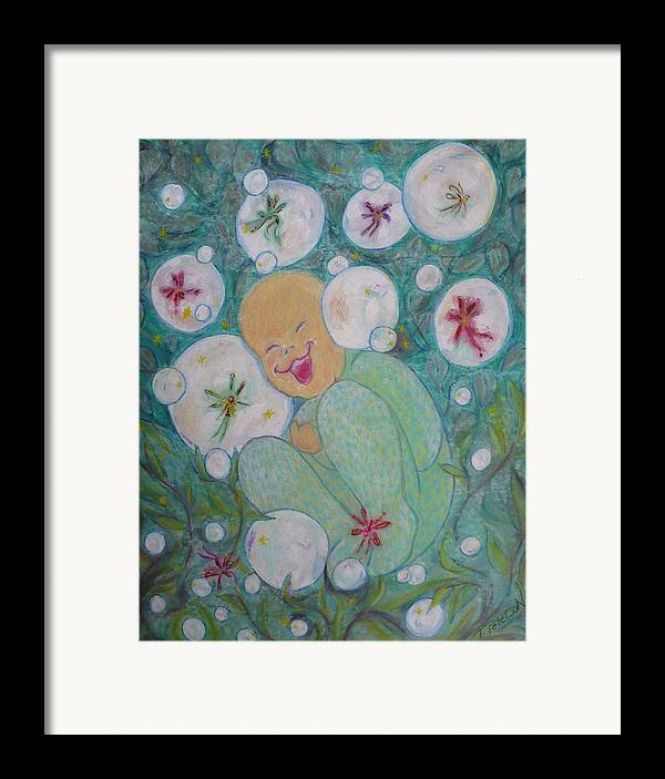 Painting Framed Print featuring the painting A Childs First Laugh by Todd Peterson