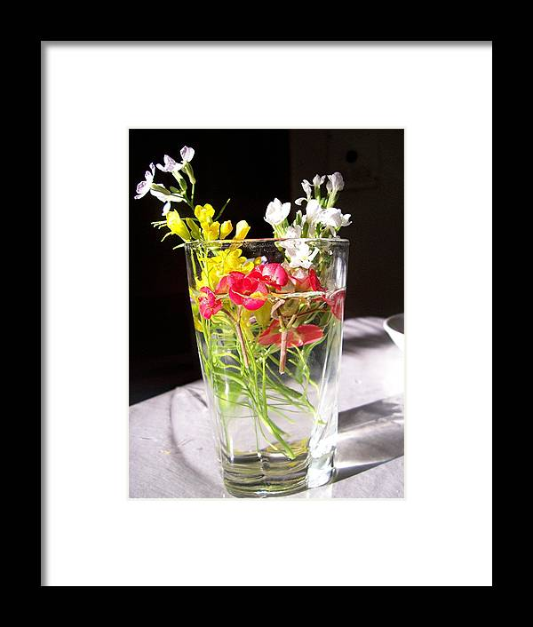 Flower Framed Print featuring the photograph A Child's Offering by Caroline Urbania Naeem