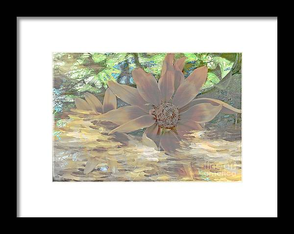 Floral Framed Print featuring the digital art A Christmas Dream By Beverly Guilliams by Beverly Guilliams