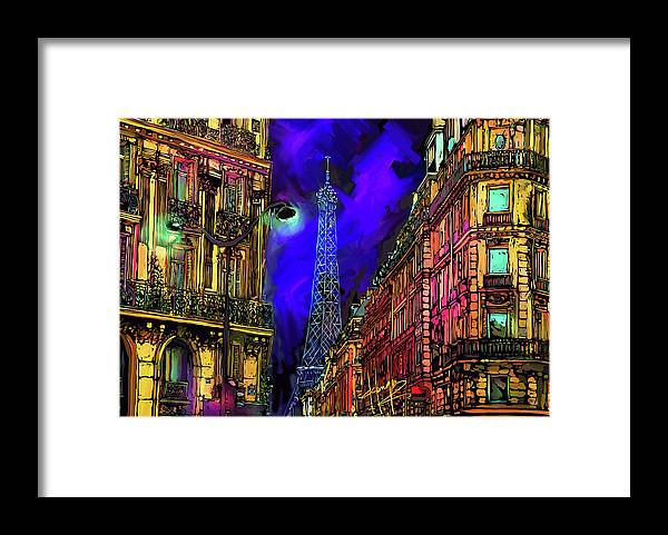 Landscape Framed Print featuring the painting A Corner In Paris by DC Langer