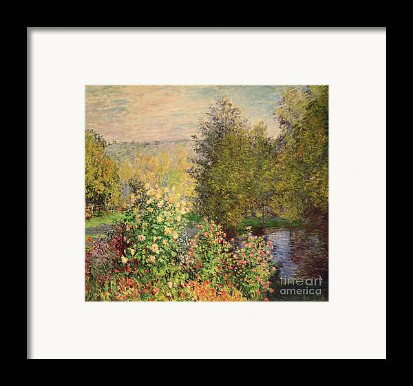 Corner Framed Print featuring the painting A Corner Of The Garden At Montgeron by Claude Monet