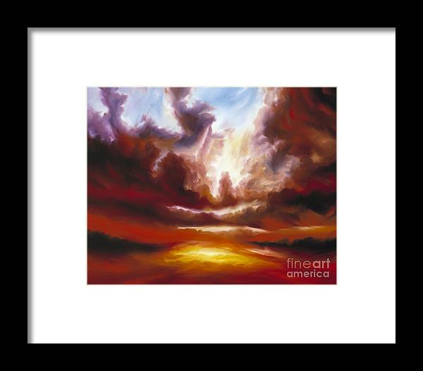 Tempest Framed Print featuring the painting A Cosmic Storm - Genesis V by James Christopher Hill