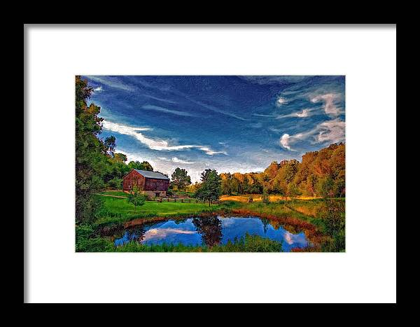 Pond Framed Print featuring the photograph A Country Place Painted Version by Steve Harrington