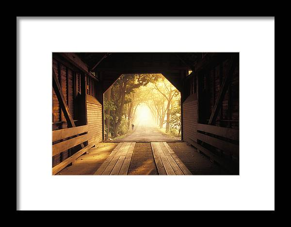 Rural Framed Print featuring the photograph A Covered Bridge In New Market by Richard Nowitz