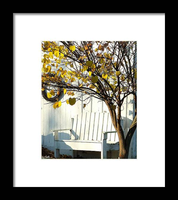 Cozy Framed Print featuring the photograph A Cozy Corner by Ed Smith