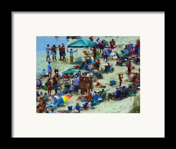 Beach Framed Print featuring the photograph A Day At The Beach by Jeff Breiman