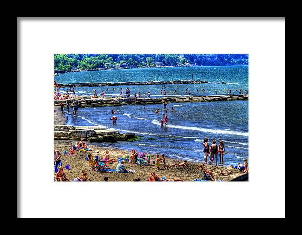 Beach Framed Print featuring the photograph A Day At The Beach by Neil Doren