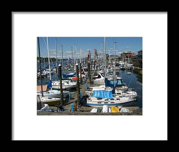 Digital Artwork Framed Print featuring the photograph A Day For Sailing by Laurie Kidd