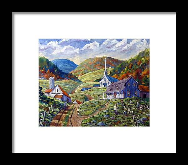 Landscape Framed Print featuring the painting A Day In Our Valley by Richard T Pranke