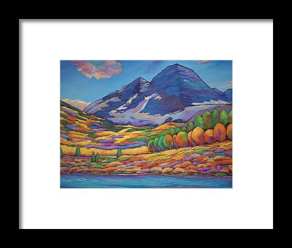 e07db4a511c Aspen Tree Landscape Framed Print featuring the painting A Day In The  Aspens by Johnathan Harris