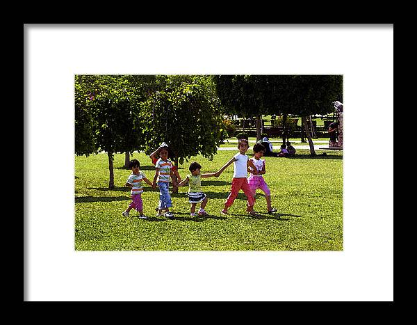 Child Framed Print featuring the digital art A Day In The Park by Don Prioleau