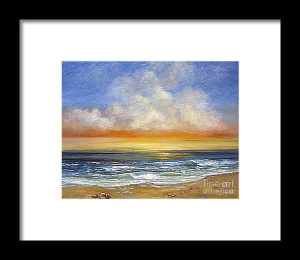 Seascape Framed Print featuring the painting A Day To Remember Sold by Jeannette Ulrich