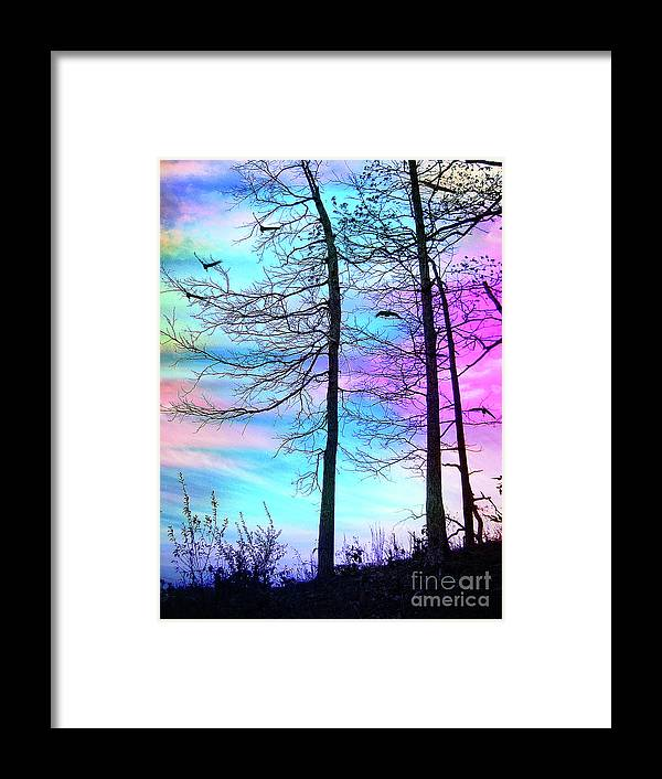 Silhouette Framed Print featuring the photograph A Day With Dancing Lights by Anna Sheradon