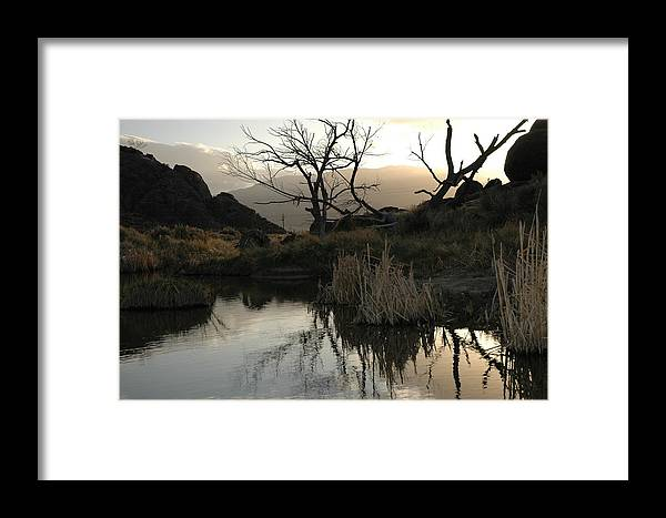 Landscape Framed Print featuring the photograph A Days End by Lori Mellen-Pagliaro